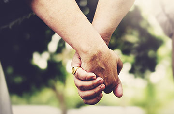 Picture of couple holing hands